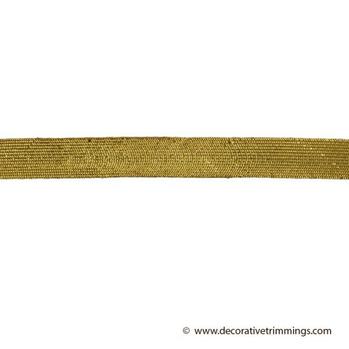 3/4 Inch Gold Metallic Flat Braid