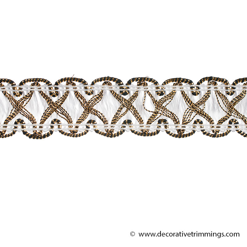 White Renaissance Cross Stitch Decorative Trimmings Llc