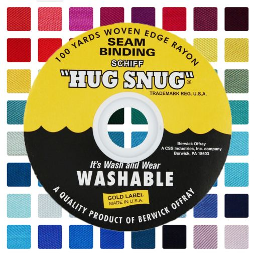 Schiff Hug Snug 100 Yard Spool Seam Binding Crafting Autumn Brown